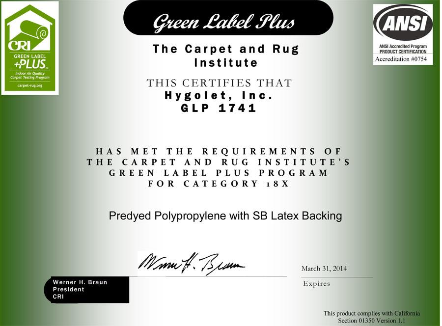 GLP certified